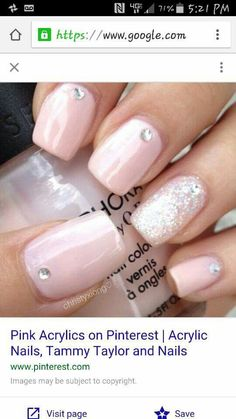 Pale pink and jewels with glitter