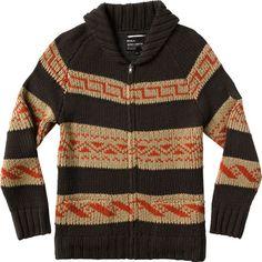 RVCA Yermo Sweater dark khaki