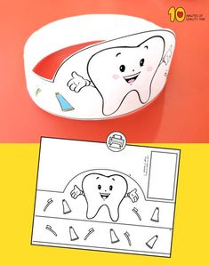 Zahnputzpapier Crown Craft Source by judahfund Dental Kids, Dental Art, Toddler Learning Activities, Activities For Kids, Tooth Crown, Crown Crafts, Crown For Kids, Health Unit, Paper Crowns