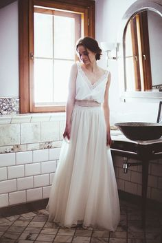 Gisele - delikatna suknia ślubna - ateliertwardowska.com