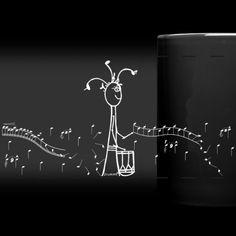 Drummli | Drummlibummlerin weiss - Panoramatasse farbig Bunt, Design, Home Decor, All Alone, Coffee Or Tea, Decoration Home, Room Decor, Interior Decorating