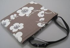 iPad Case, iPad bag, for iPad 2, iPad 3, Cotton Canvas/Padded/Plum Flower.