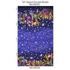 Michael Miller Enchanted Flower Fairies Double Border Twilight.Fairy.By the FQ