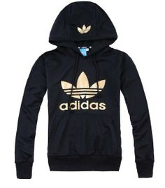 adidas hoodie black gold via Luxury store. Click on the image to see more!