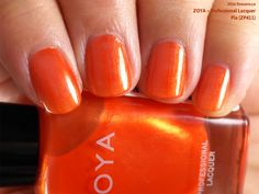 Zoya Professional Lacquer in Pia (swatch by fivezero.ca) [orange]