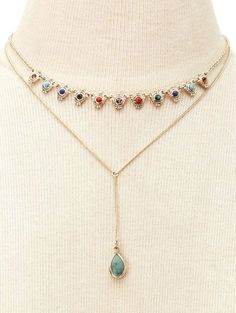SHARE & Get it FREE | Fake Gem Layered NecklaceFor Fashion Lovers only:80,000+ Items • New Arrivals Daily • FREE SHIPPING Affordable Casual to Chic for Every Occasion Join Zaful: Get YOUR $50 NOW!