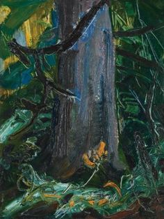 """""""Forest Interior,"""" Arthur Lismer, oil on board, x private collection. Canadian Painters, Canadian Artists, Group Of Seven Art, Franklin Carmichael, Tom Thomson, Emily Carr, Painting Trees, Country Artists, Modern Artists"""