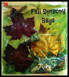 Fall Sensory Bags. | Fall activities