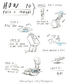 Oliver Jeffers - How to pack a sunhat