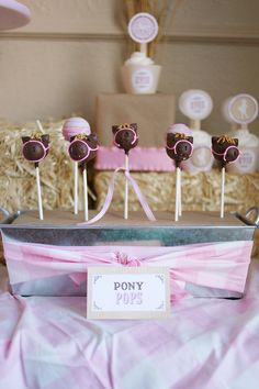 pony pops - cake pops for cowgirl party