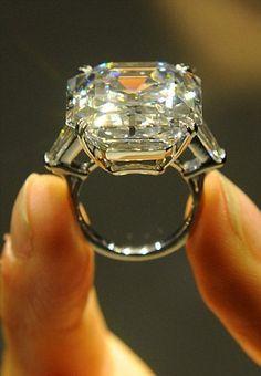 The Elizabeth Taylor 33.19-carat white diamond ring.