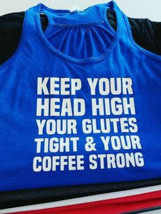 Motivational tanks for all athletes!!