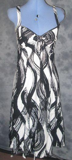 Kaleidescope,ladies,size 10,black&white,sleeveless,strappy,v neck,formal,dress.