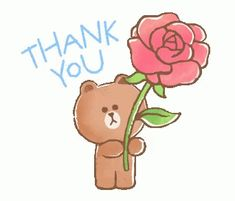 Thank You Gifs, Thank You Images, Wall Stickers Dance, Cute Stickers, Thanks Gif, Bear Gif, Cute Couple Cartoon, Cute Love Memes, Dance Quotes