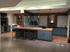 Laura Ashley Richmond In Cook Blue With Whitby Chalk White  Mixing  Traditional With Modern Units
