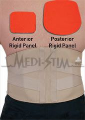 Back Pain Relief brace with rigid panels, provide support for weak back muscles!