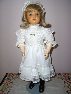 "18"" Celluloid  German K*R #406 Girl Fabulous Hard to Find Doll - Paula's Doll Memories #dollshopsunited"