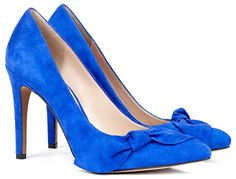 "Sole Society ""Elisa"" Suede Bow Pumps in blue (Isabel Marant Poppy knockoffs)"