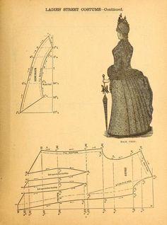 The national garment cutter book of diagrams. - libro intero con tantissimi schemi di abiti in stile Vittoriano