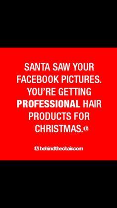 Christmas hair dresser humor