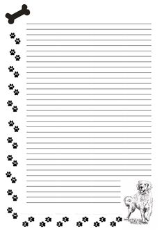 Free stationary - Dog Paws by cpchocccc on DeviantArt Stationary Printable Free, Printable Lined Paper, Diy Stationery Set, Stationery Paper, Aesthetic Letters, Printable Recipe Cards, Dog Paws, Disney Scrapbook, Writing Paper