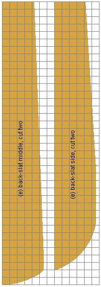 Cape Cod chair backslat grid plans