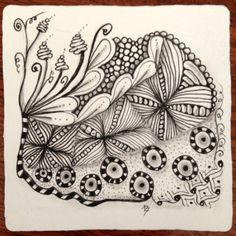 Ta-Da Zentangle with Flux, Knightsbridge, Tipple