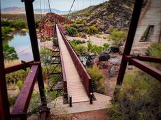 Cross the historical Sheep Bridge in Arizona and take a step back in time while enjoying amazing views of the Verde River and Tonto National Forest. Vacation Places, Vacation Trips, Dream Vacations, Vacation Spots, Places To Travel, Travel Destinations, Greece Vacation, Vacation Ideas, Vacation Wishes