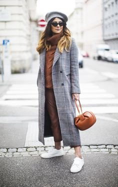 Outfit   My Secret To Wearing A Checked Coat And Own It Revealed