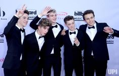 (L-R) Singers Daniel Seavey, Jack Avery, Corbyn Besson, Zach Herron and Jonah Marais of Why Don't We attend the annual Billboard Music…