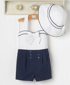 New **Janie and Jack Sail Away Romper** modern day sailor outfit McMahon McMahon McMahon McMahon williams Little Girl Fashion, Toddler Fashion, Kids Fashion, Sailor Outfits, Outfits Niños, Kids Girls, Baby Kids, Look Girl, Baby Swag