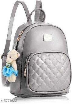 Backpacks TRENDY BACKPACK FOR GIRLS AND WOMENS Material: PU No. of Compartments: 2 Pattern: Solid Multipack: 1 Sizes: Free Size (Length Size: 15 in) Country of Origin: India Sizes Available: Free Size *Proof of Safe Delivery! Click to know on Safety Standards of Delivery Partners- https://ltl.sh/y_nZrAV3  Catalog Rating: ★3.9 (2573)  Catalog Name: Voguish Classy Women Backpacks CatalogID_868576 C73-SC1074 Code: 282-5771822-