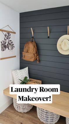 Mudroom Laundry Room, Laundry Room Remodel, Small Laundry Rooms, Laundry Room Organization, Laundry Room Design, Small Rooms, Farmhouse Laundry Room, Mud Room Lockers, Small Living Room Storage