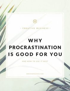 """I can already hear some people saying, huh?! Yes, procrastination can be very good for you. *inserts smiley face* I know, I know, we were told about the evils of procrastination. How it is very bad and how you lose a lot of opportunities as a result of procrastinating. It's at this point that you hear, """"Make hay while the sun shines"""", or """"A stitch in time saves nine"""" blah blah blah. Well, as the Chief Procrastinator of the Universe, I've got news for you. It can be GOOD and rewarding to…"""