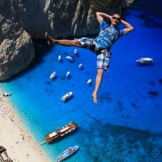 Base Jumping at Shipwreck Beach, Zakynthos Island, Greece. Napoleon Hill, Gopro, Best Selfies, Base Jumping, Aerial Drone, Paragliding, Skydiving, Relaxing Music, Black And White Pictures