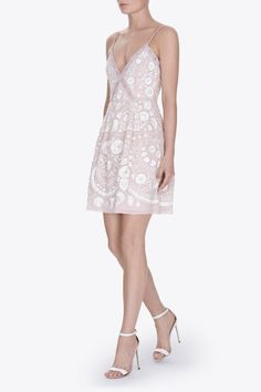 EMBROIDERY MOTIF PROM DRESS