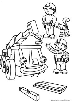 Bob the Builder Coloring page for kids