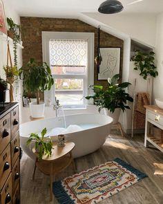 Modern Bathroom Decor, Bathroom Interior Design, Bathroom Designs, Small Bathroom, Bathroom Goals, Country Interior Design, Bathroom Plants, Boho Bathroom, Dream Bathrooms