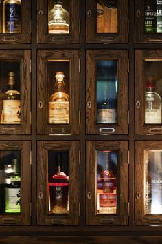 A historic interior in The Rocks has been transformed into a funky whiskey bar, complete with leather furniture and dark timber cabinetry. Whisky Bar, Cigars And Whiskey, The Rocks Sydney, Whiskey Room, Home Wine Cellars, Man Cave Home Bar, Man Cave Room, Timber Panelling, Home Bar Designs
