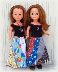 Itzi...con Nancys: Conjuntos MACLA 1ª Waist Skirt, High Waisted Skirt, Nancy Doll, Pram Toys, Clothes Patterns, Virginia, Doll Clothes, Barbie, Fashion