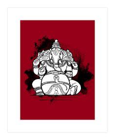 Ganesha, the Elephant God Art Print