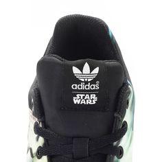 half off 7a24b 71f5c Adidas Originals x Star Wars ZX Flux W Torsion Millenium Falcon (schwarz  weiß