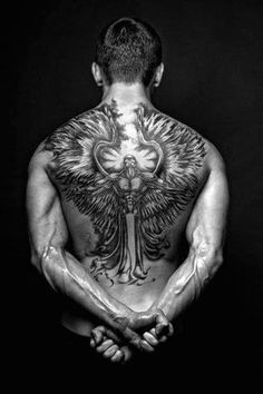 75 Remarkable Angel Tattoos For Men Ink Ideas With Wings Hello! Here we have best wallpaper about angel wings tattoo designs back. Cool Back Tattoos, Back Tattoos For Guys, Great Tattoos, Trendy Tattoos, Beautiful Tattoos, Body Art Tattoos, Back Tattoo Men, Popular Tattoos, Awesome Tattoos