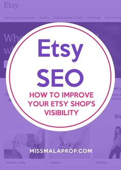 If you've been selling on Etsy for awhile, or running any sort of online business, you've probably heard about SEO (search engine optimization) and know that it is an important part of marketing and selling more of your handmade products. But do you understand how to implement SEO and make your Etsy shop stand out in search, both within Etsy's internal search engine as well as on Google, Yahoo and Bing?