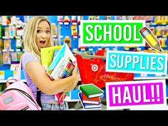 Back to School Supplies Haul!! Alisha Marie - YouTube