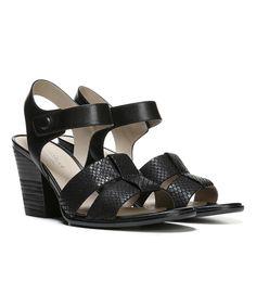 Black Yolanda Leather Sandal