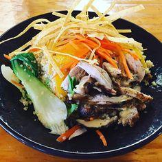 Let\'s start the week off right! Boca 31 has CHICKEN QUINOA SALAD (With Passion fruit dressing orange segments carrots bok choy and Tortilla strips) - $9.00 #chickenquinoasalad #denton #dentoning #UNT #TWU #foodporn #chefslife #wedentondoit #dentoneats #dentonproud #boca31 #latinflavors #visitdenton #welovedenton #eatlocal #eatfresh #supportlocal #boca31 #dentonslacker