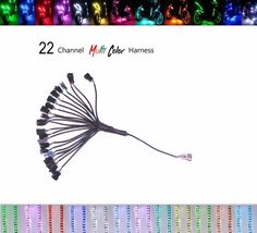 22 Channel LED Multi-Color Accent Light Harness RGB / Strip / Pod / Wheel Pod #Shadz_LED