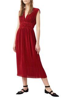 Robe longue fluide et décolletée  Rouge by MANGO 69.99