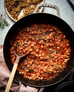 Jammy Sun Dried Tomato White Beans with Breadcrumbs | The First Mess
